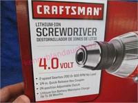 New Craftsman 4-volt lithium-ion screwdriver