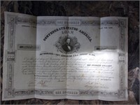1861 $100 US Cival  War Bond Jumbo