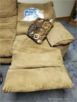 Tan Reclining Sofa Power Lounger ( Works )
