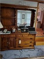 Dresser W/ Mirror & 3 Over 3 Dresser