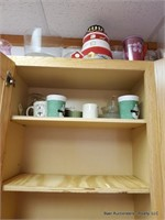 Contents In Top Cabinets & Assorted Dishes