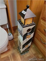 Cleaning Supplies & Light House Holder In