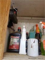 2 Shelves Of Cleaning Supplies