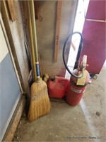 Fire Extinguisher, Brush, Gas Can