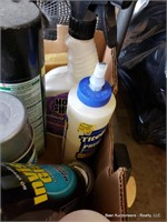 Box Of Misc Spray Cleaners