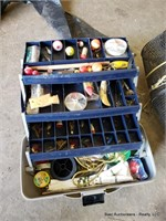 Tack Box & 4 Fishing Poles