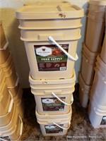 6 Buckets Of Emergency Food
