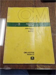 John Deere 1240 Corn Planter Owner Manual