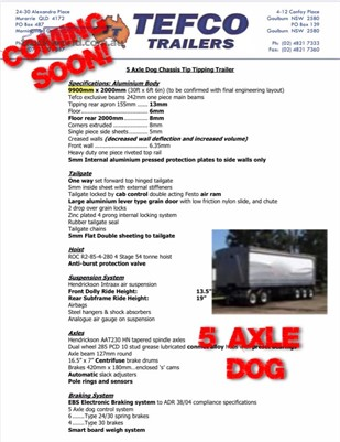 2017 Tefco Dog Trailer Southern Star Truck Centre Pty Ltd - Trailers for Sale