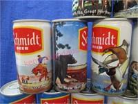 """20 schmidt beer cans """"brew that grew.."""""""