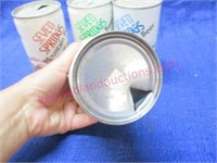 """4 """"seven springs moutain beer"""" cans set"""