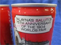 "4 ""talayna's beer"" 75th anniv for 1904 worlds fair"