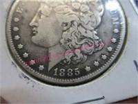 1885 Morgan silver dollar (90% silver)