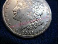 1921-S Morgan silver dollar (90% silver) nice