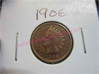 1906 Indian head penny (1-cent)