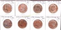 ESTATE COLLECTION OF KENNEDY BU HALF DOLLARS 1976/
