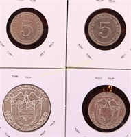 ESTATE COLLECTION OF PANAMANIAN COINS 4-1970 1/2