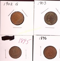 ESTATE COLLECTION OF 28 INDIAN HEAD CENTS