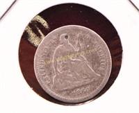 1860 SILVER HALF DIME