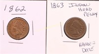 1862/63 INDIAN HEAD CENTS