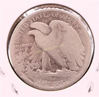1918-D WALKING LIBERTY SILVER HALF DOLLAR