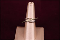 INFINITY HEART STERLING SILVER RING SZ.7