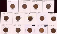 ESTATE COLLECTION OF 21 INDIAN HEAD CENTS