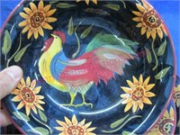 3 pieces of rooster dishes (bowl-plate-saucer)