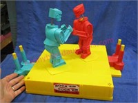 "1966 Marx ""rock 'em sock 'em"" boxing set"