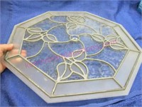 Real leaded glass 8-sided piece