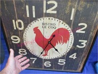 Modern red rooster clock ($80 Hobby Lobby)
