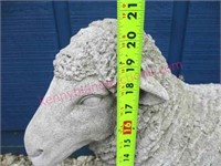 Nice concrete sheep yard ornament (23in long)