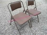 Pair of Samsonite folding chairs