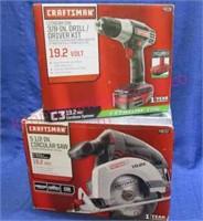 New Craftsman 19.2v driver-drill & New 19.2v saw