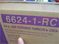 Coke lot: menu board -case of new cups -toaster