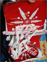 Lot: Colts & Coke banners -RC Cola -parking sign
