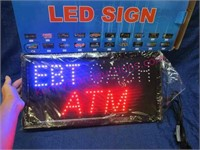 """EBT Cash ATM"" new led sign in box"