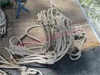 Lot of 9 rope style hay feeders (cows-horses-etc)