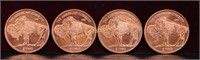 4 - 1 OUNCE ZOMBIE COPPER ROUNDS