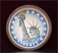 1 TROY OUNCE FREEDOM AND DEMOCRACY SILVER .999