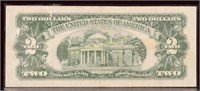 1963 RED SEAL TWO DOLLAR BILL