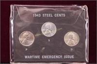 1943 STEEL PENNY SET