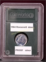 1964 PROOF ROOSEVELT SILVER DIME