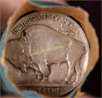 UNSEARCHED ESTATE ROLL OF BUFFALO NICKELS