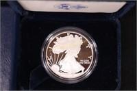 2005 PROOF AMERICAN SILVER .999 EAGLE w COA