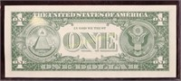1957B STAR NOTE BLUE SEAL ONE DOLLAR SILVER CERT.