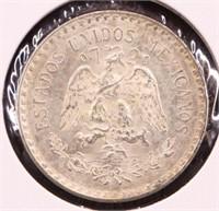 1945 MEXICO SILVER UN PESO