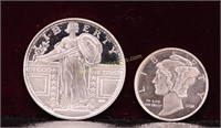 1/10 & 1/4 TROY OUNCE FRACTIONAL SILVER .999 ROUNS