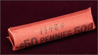 1948-S WHEAT PENNY ROLL