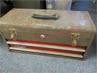 vintage Craftsman tool box & misc tools